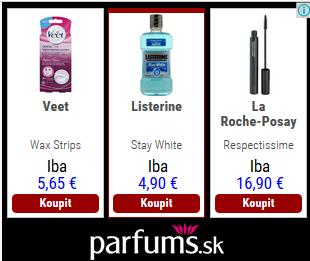 Dynamická reklama parfums.sk