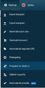 Propojení se Zbozi.cz