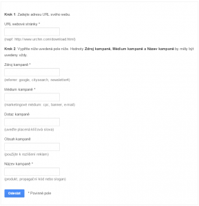 Nástroj pro tvorbu adres URL