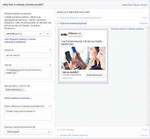 Facebook reklama na mobilu