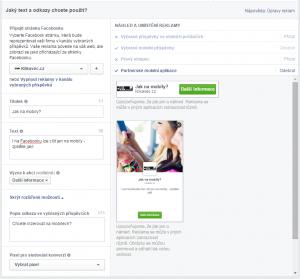 Facebook reklama v aplikacích